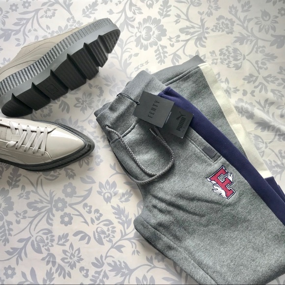 8a65637f91d Puma NEW Fenty Rihanna fitted panel sweatpants